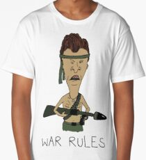 "Beavis & Butthead - ""War Rules"" Rambo Design Long T-Shirt"