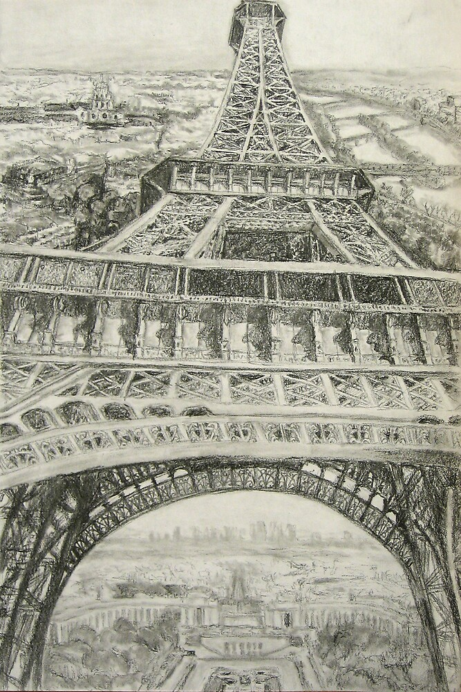 Eiffel Tower- Preliminary Sketch by Christopher Ripley