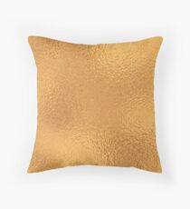 Simply Metallic in Antique Copper Bronze Solid Throw Pillow