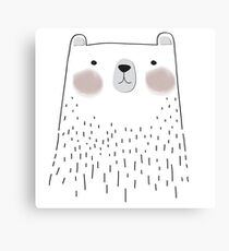 Cute Bear Forest Animals Canvas Print