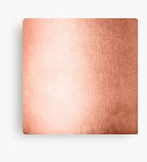 Rose Gold Metallic Sweet Peach Coral Pink Shimmer Canvas Print