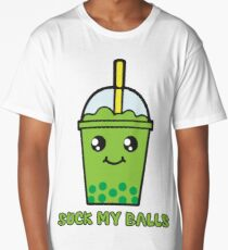 Suck My Balls - Funny Bubble Tea (Matcha Green Tea) Long T-Shirt