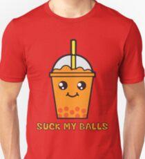 Suck My Balls - Funny Bubble Tea (Orange) Unisex T-Shirt