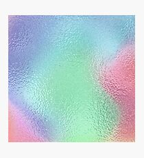 Holographic Rainbow Iridescent Metallic Texture Green Blue Pink Purple Photographic Print