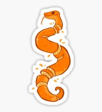 Orange Snek Sticker