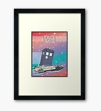 Doctor Who Tardis Delorean Back to the Future mashup Framed Print