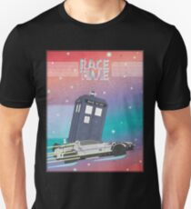 Doctor Who Tardis Delorean Back to the Future mashup T-Shirt