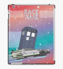 Doctor Who Tardis Delorean Back to the Future mashup iPad Case/Skin