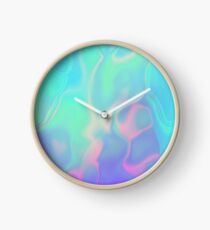 Rainbow Sea Holographic Iridescence Clock