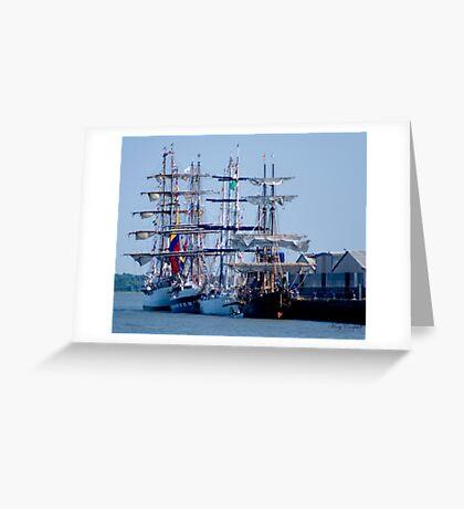 Tall Ships Home Again Greeting Card