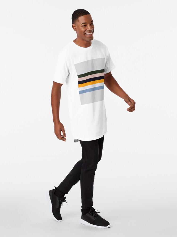 Alternative Ansicht von Streifen malen Longshirt