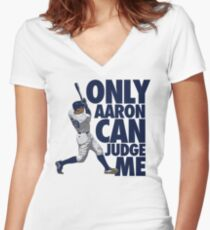 Only Aaron Can Judge Me 2 Women's Fitted V-Neck T-Shirt