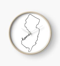 New Jersey Home State Outline Clock