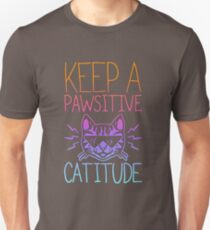 cat-keep a pawsitivee catitude kitten T-Shirt