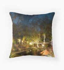 The Rink'n Flip'n Deer had a Rompadroop in the P00l of Glippers Throw Pillow