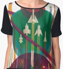 NASA JPL Space Tourism: A Once in a Lifetime Getaway Women's Chiffon Top