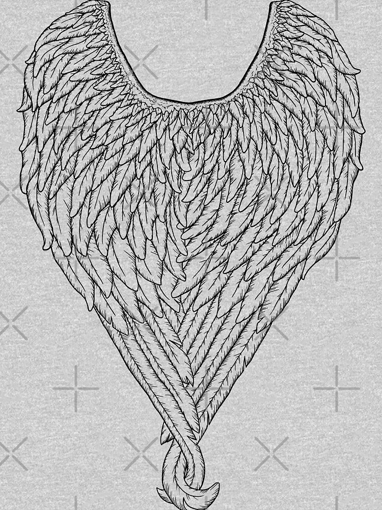 Wings (Black Linework) by GriffinJDesigns
