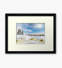 Great background image for creating Holiday Greeting postcards or computer wallpapers Framed Print