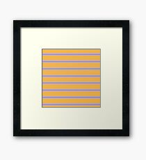 Yellow and Purple Stripes Framed Print