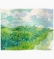Green Wheat Fields Auvers Van Gogh Fine Art Poster