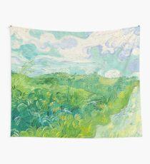 Green Wheat Fields Auvers Van Gogh Fine Art Wall Tapestry