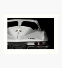 1963 Corvette Detail - High Contrast Art Print