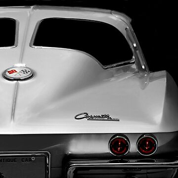 1963 Corvette Detail - High Contrast by mal-photography