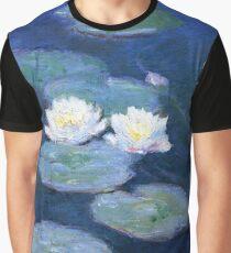 Zwei Seerosen Monet Fine Art Grafik T-Shirt