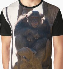 Chimpanzee in a tree Graphic T-Shirt
