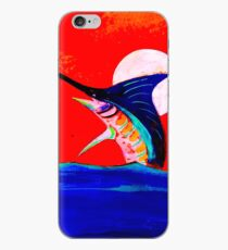 Moon and marlin iPhone Case