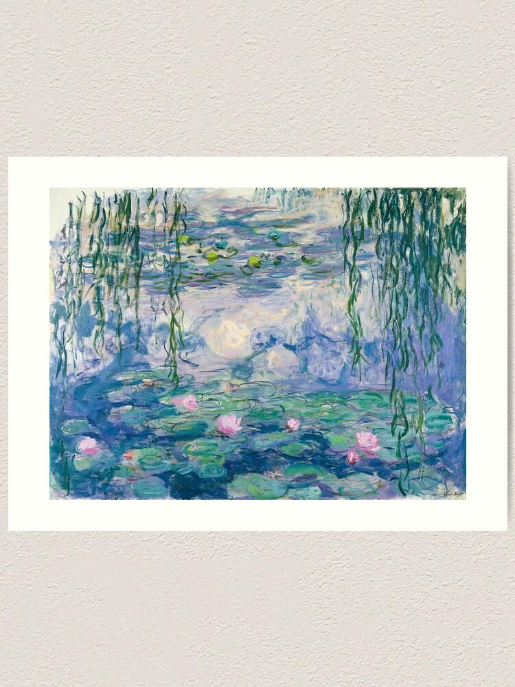 Alternate view of Water Lilies Claude Monet Fine Art Art Print