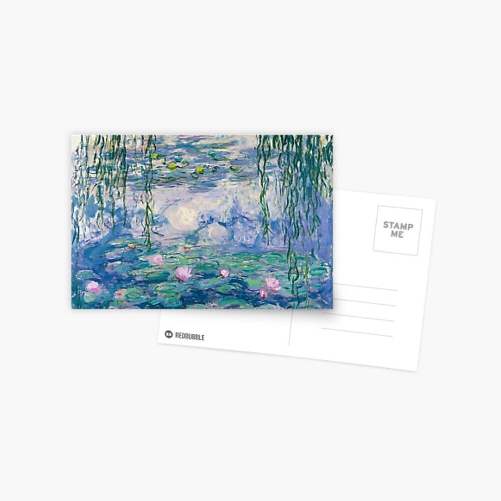 Water Lilies Claude Monet Fine Art Postcard
