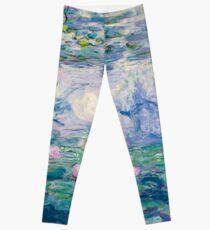 Water Lilies Claude Monet Fine Art Leggings