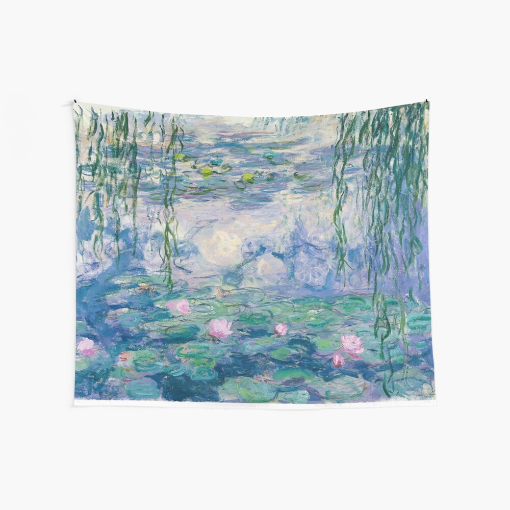 Water Lilies Claude Monet Fine Art Wall Tapestry