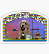 Chemie-Hundememe Sticker