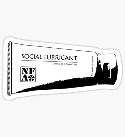 Social Lubricant Sticker