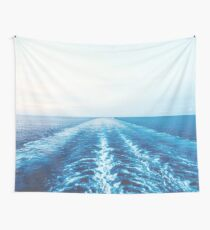 Water Wave Wake Wall Tapestry