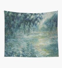 Monet Morning on the Seine Fine Art Wall Tapestry