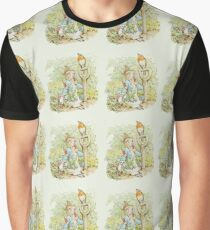 Peter Rabbit Eating Carrots - Beatrix Potter Graphic T-Shirt