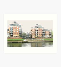 Looking Across York's River Ouse. Art Print