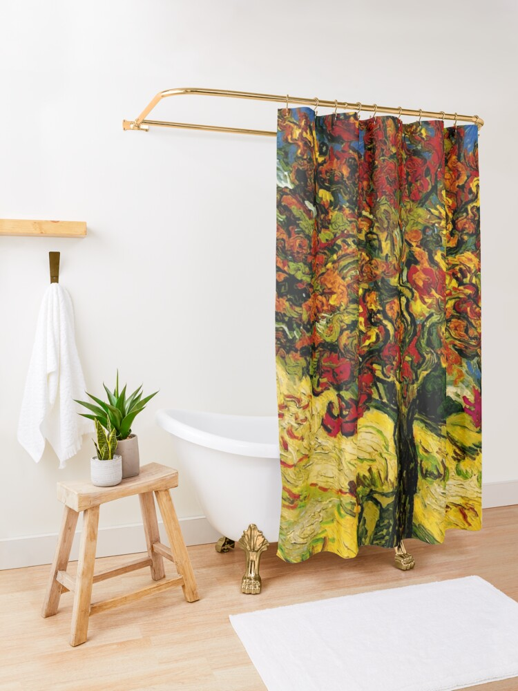 Alternate view of Van Gogh Mulberry Tree Shower Curtain