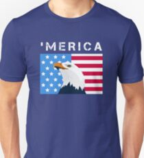 'Merica Eagle USA America Flag Patriotic Day Funny T Shirt Gifts Unisex T-Shirt