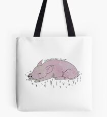 Pigs are friends, not food. (coloured) Tote Bag