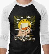 Sunshine And Whiskey Shirt Men's Baseball ¾ T-Shirt