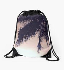 Tropical Palms Drawstring Bag