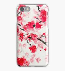 Red Cherry Blossoms iPhone Case/Skin