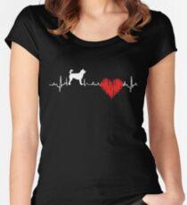 Special Kai Ken Heartbeat Dog T-shirt  Women's Fitted Scoop T-Shirt