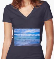 Sunrise Beach Women's Fitted V-Neck T-Shirt