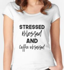 Coffee Obsessed Women's Fitted Scoop T-Shirt