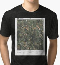 USGS TOPO Map Georgia GA Cotton 20110314 TM Tri-blend T-Shirt